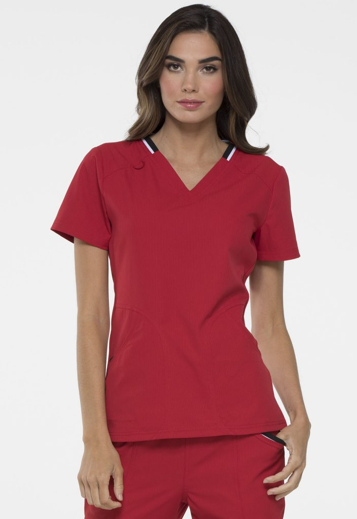 Health Company - TOP UNIFORME MÉDICO MUJER UNICOLOR ELLE EL650 RED
