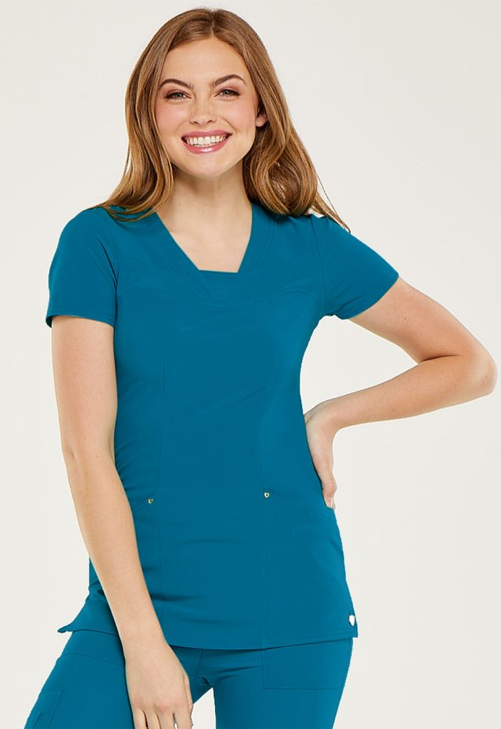 Health Company - TOP UNIFORME MÉDICO MUJER UNICOLOR HEARTSOUL HS665 CAPS