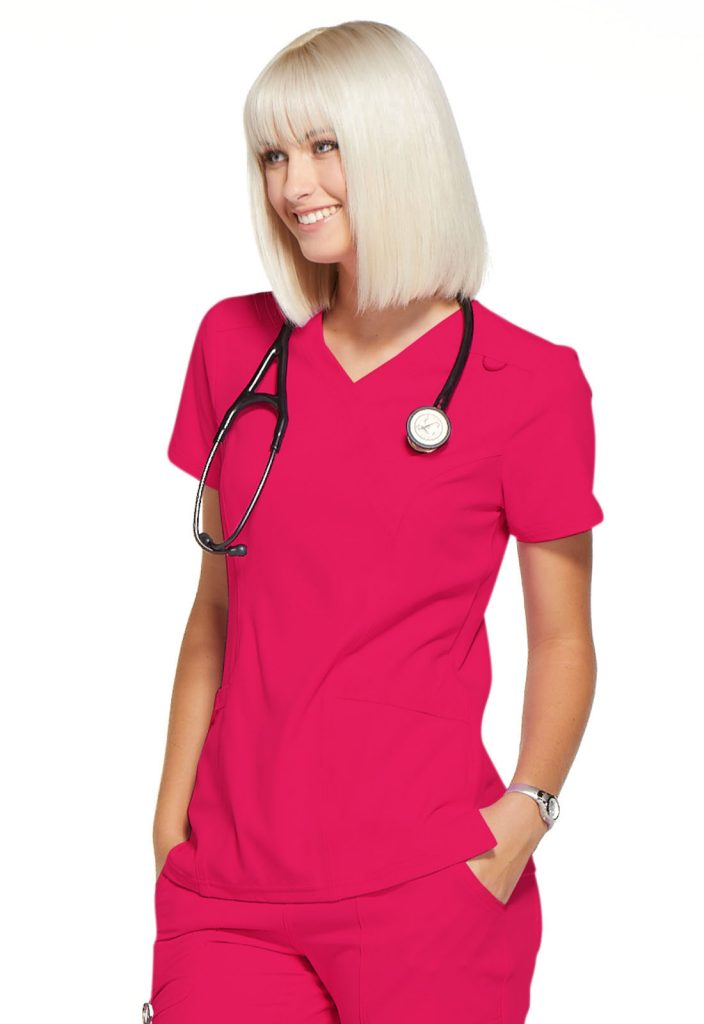 Health Company - TOP UNIFORME MÉDICO MUJER UNICOLOR ELLE SIMPLY POLISHED EL620 RUE