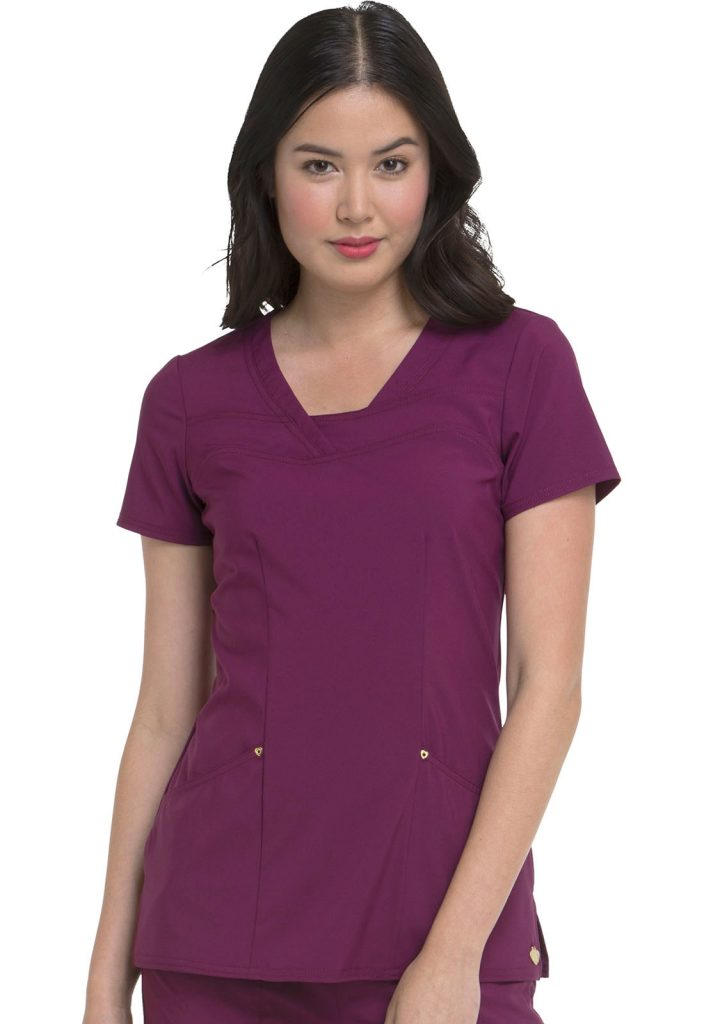 Health Company - TOP UNIFORME MÉDICO MUJER UNICOLOR HEARTSOUL LOVE ALWAYS HS665 WNPS
