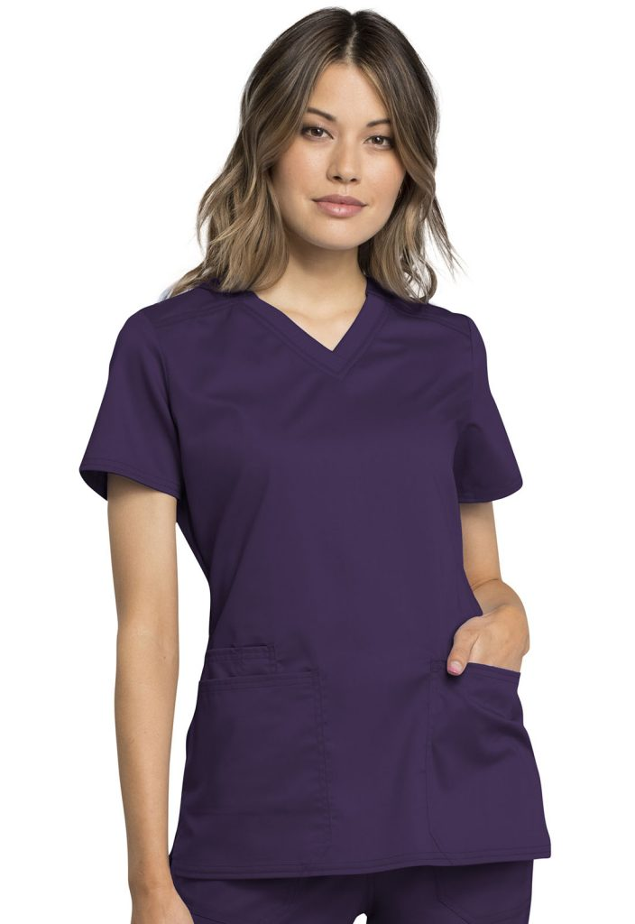 Health Company - TOP UNIFORME MÉDICO MUJER UNICOLOR CHEROKEE WW REVOLUTION WW770AB EGG