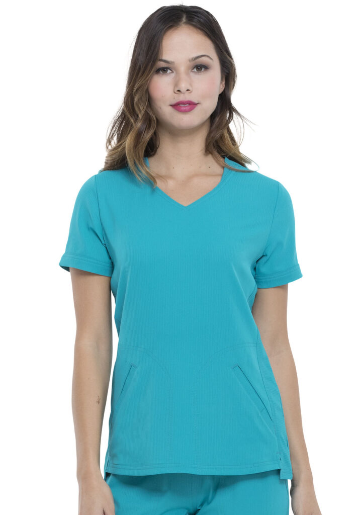 Health Company - TOP UNIFORME MÉDICO MUJER UNICOLOR ELLE SIMPLY POLISHED EL604 TLB