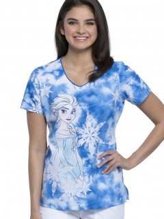 TOP UNIFORME MÉDICO MUJER ESTAMPADO DISNEY TF626 FZES