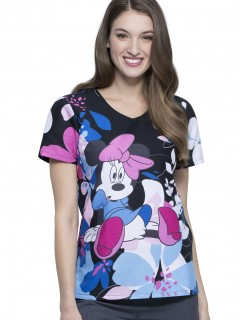 TOP UNIFORME MÉDICO MUJER ESTAMPADO DISNEY TF626 MNOO