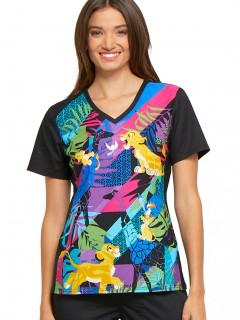 TOP UNIFORME MÉDICO MUJER ESTAMPADO DISNEY TF670 LKFR