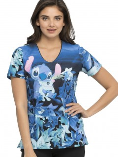 TOP UNIFORME MÉDICO MUJER ESTAMPADO DISNEY TF614 LHUM