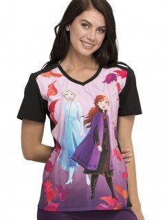 TOP UNIFORME MÉDICO MUJER ESTAMPADO DISNEY TF637 FZTO