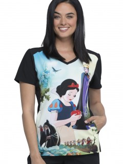 TOP UNIFORME MÉDICO MUJER ESTAMPADO DISNEY TF637 SNEN