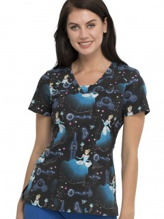 TOP UNIFORME MÉDICO MUJER ESTAMPADO DISNEY TF641 PRSO