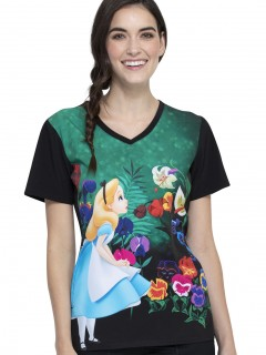 TOP UNIFORME MÉDICO MUJER ESTAMPADO DISNEY TF627 ALWL