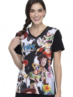 TOP UNIFORME MÉDICO MUJER ESTAMPADO DISNEY TF627 TSTW
