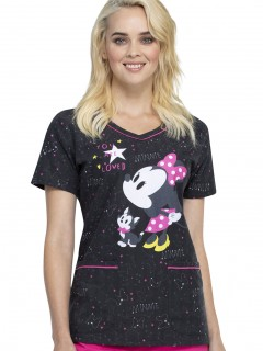 TOP UNIFORME MÉDICO MUJER ESTAMPADO DISNEY TF634 MNYL