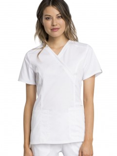Blusa Del Uniforme Médico Mujer Unicolor Cherokee Ww Revolution Tech Ww775Ab Wht