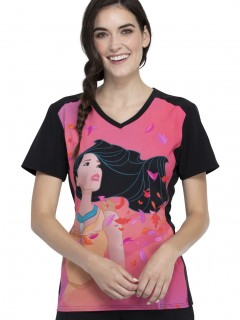 TOP UNIFORME MÉDICO MUJER ESTAMPADO DISNEY TF637 PRHO