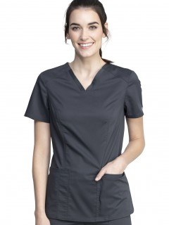 Blusa Del Uniforme Médico Mujer Unicolor Cherokee Ww Revolution Tech Ww741Ab Pwt