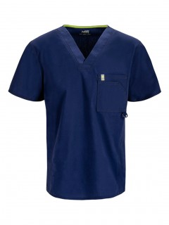 TOP UNIFORME MÉDICO HOMBRE UNICOLOR CODE HAPPY BLISS ANTIMICROBIAL 16600A  NVCH