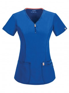 TOP UNIFORME MÉDICO MUJER UNICOLOR CODE HAPPY BLISS ANTIMICROBIAL 46600A  RYCH