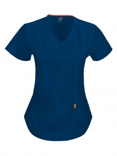 TOP UNIFORME MÉDICO MUJER UNICOLOR CODE HAPPY BLISS ANTIMICROBIAL 46601A  NVCH