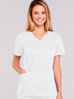Blusa Del Uniforme Médico Mujer Unicolor Cherokee Ww Core Stretch 4710 Blanco Whtw