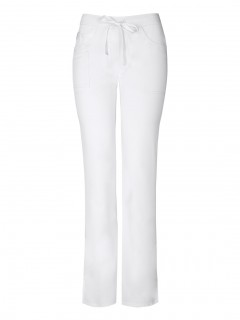 PANTALÓN UNIFORME MÉDICO MUJER UNICOLOR CODE HAPPY CLOUD NINE ANTIMICROBIAL CH000A BLANCO WHIH