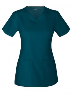 TOP UNIFORME MÉDICO MUJER UNICOLOR CODE HAPPY CLOUD NINE ANTIMICROBIAL CH602A  CAR