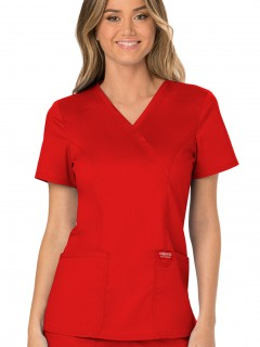 Blusa Del Uniforme Médico Mujer Unicolor Cherokee Ww Revolution Ww610  Red