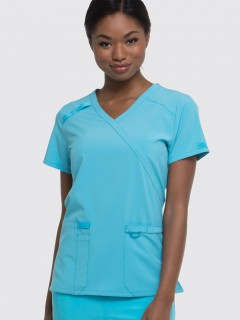TOP UNIFORME MÉDICO MUJER UNICOLOR DICKIES EDS DK625  TRQ